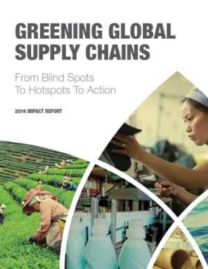 Greening Global Supply Chains: From Blindspots to Hotspots to Action